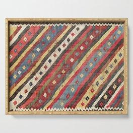 Luri  Antique Fars Southwest Persian Kilim Print Serving Tray