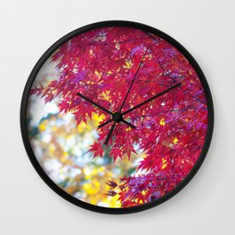 Maple in the Fall Wall Clock