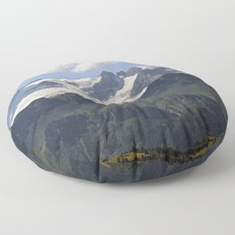 Alpine Ridge Alps Mountains Snow Peak Landscape Floor Pillow