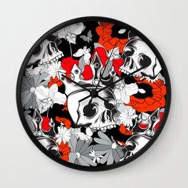 Royal Poppy Garden  Wall Clock