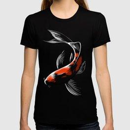 Black Japanese carp T-shirt