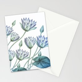 Water Lily Blue Stationery Cards