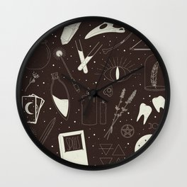 A Witch's Altar Wall Clock