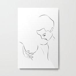 sucer les seins - sucking nipples Metal Print