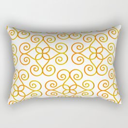 Orange Yellow Gradient Swirls Damask Pattern 2 Rectangular Pillow