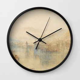 Lucerne from the Lake (19th century) by J.M.W. Turner Wall Clock