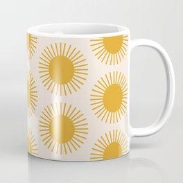 Golden Sun Pattern Coffee Mug