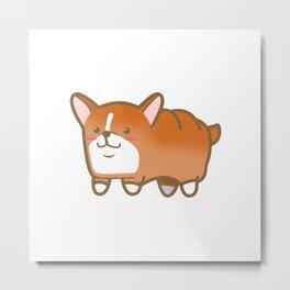 Corgi Loaf Metal Print