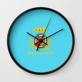 flag of latium or Lazio Wall Clock