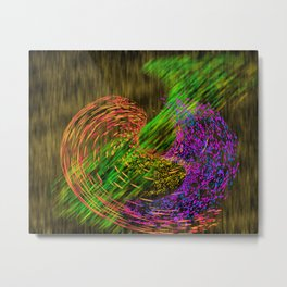 Turbulence colored and gold Metal Print