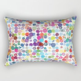 Watercolor Drops Rectangular Pillow