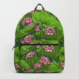 Lotus garden Backpack
