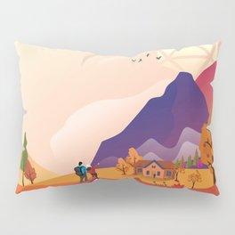 Autumn Hike D20 Dice Mountain Tabletop RPG Landscape Pillow Sham