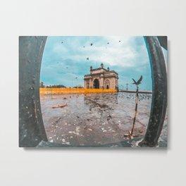 Iconic gate way of india Metal Print