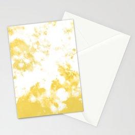Daffodil Yellow Tie Dye Pattern  Stationery Cards
