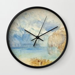 """J.M.W. Turner """"The Lake of Lucerne from Fluelen"""" Wall Clock"""