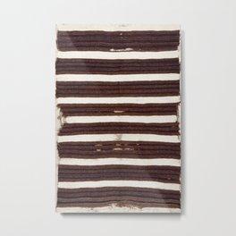 Navaho Antique Tribal Rug Print Metal Print