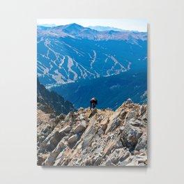 Dog Gone Climbing // High above Copper Mountain Ski Resort in Colorado Landscape Photograph Metal Print