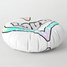 Pastel Love Mosaic Heart Graphic Design  Floor Pillow