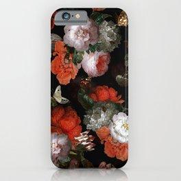 Midnight Jan Davidsz. de Heem Vintage Roses Flowers Botanical Garden iPhone Case