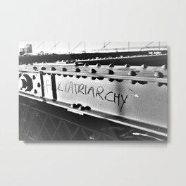 F*ck Patriarchy Graffiti on the Brooklyn Bridge Metal Print