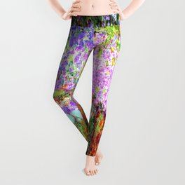 Monets Garden in Giverny Leggings