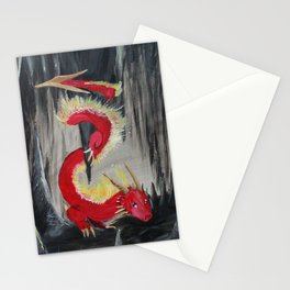 Fire Cavern Dragon Stationery Cards