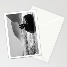 Block Island in Black and White (Couple at Mohegan Bluffs) Stationery Cards
