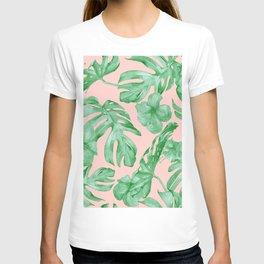 Island Life Coral Pink + Green T-shirt