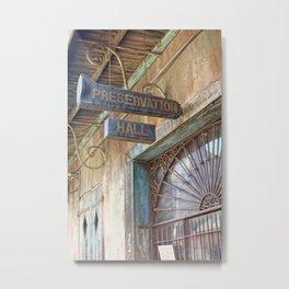 New Orleans Jazz Club Metal Print