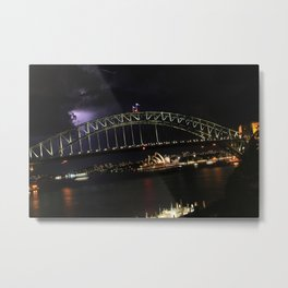 Lightning over Sydney Harbour, Lavender Bay, NSW Metal Print