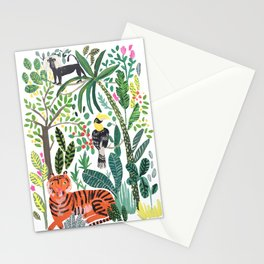 Tiger India Tropical Jungle Stationery Cards