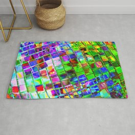 Psychedelic Planet Disco Ball Rug
