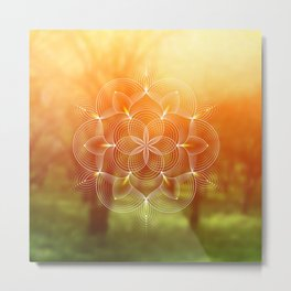 Valinor (Undying Lands) | Sacred geometry art Metal Print