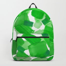 Lime Pattern with Squares Backpack