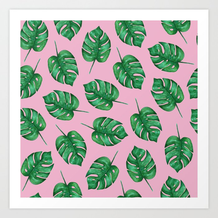 Pink Monstera Leaf Watercolor Pattern Tropical Leaves Watercolor Tropical Pattern Art Print By Polkadotsempire Society6 Easy to follow instructions guide you through. pink monstera leaf watercolor pattern tropical leaves watercolor tropical pattern art print by polkadotsempire