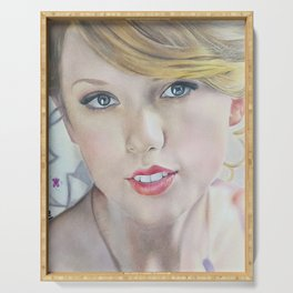 love story Colour Pencil Drawing Art | Xszone Serving Tray