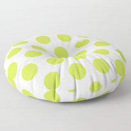 Mid Century Modern Polka Dots 565 Chartreuse Green Floor Pillow