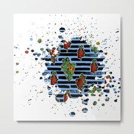 Australian Native Florals Graphic Splotch Metal Print