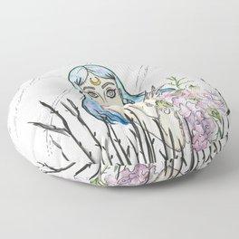 Freaky Flower girl Floor Pillow