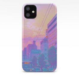 Anime sunset iPhone Case