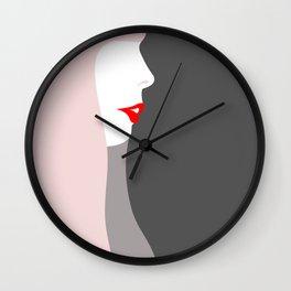 Joni Michell (pop pink & grey) Wall Clock