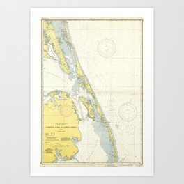 Vintage Map of The Outer Banks (1942) Art Print