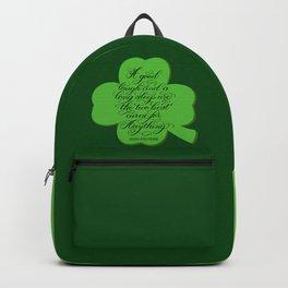 St. Patrick's Day Shamrock Irish Proverb Backpack