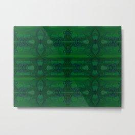 Patterns II Green Metal Print