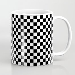 Black and White Checkerboard Pattern Coffee Mug