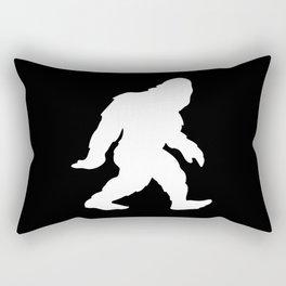Bigfoot Sasquatch Silhouette Cartoon Rectangular Pillow