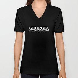 Georgia Unisex V-Neck