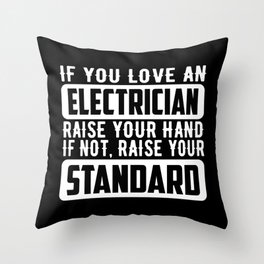 Electrician Power Cord Work Gift Throw Pillow