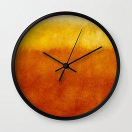 Autumn watercolor volume art Wall Clock